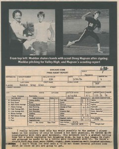 Greg Maddux MLB Draft Scouting Report
